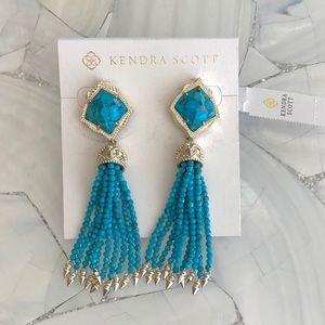 Kendra Scott bronze vein turquoise Misha earrings